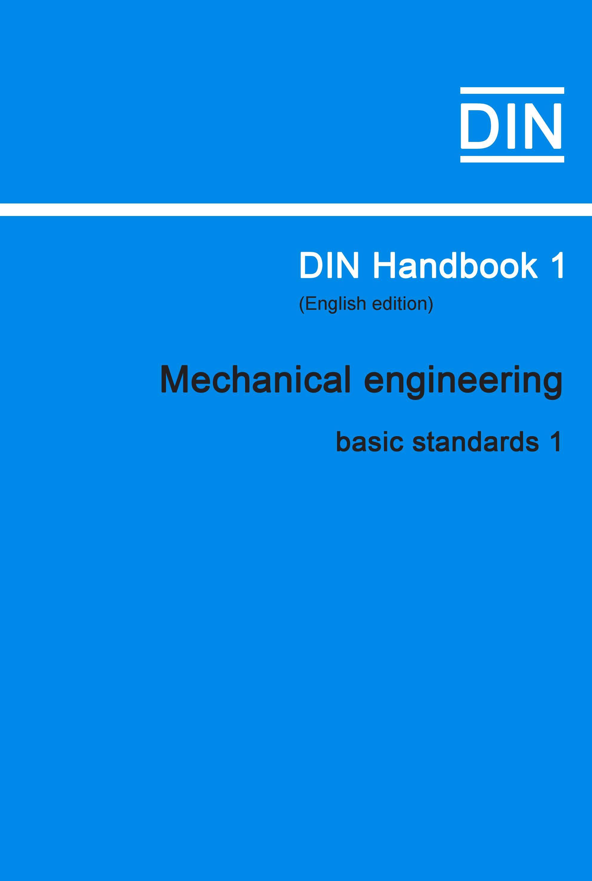 (DIN Handbook  1 Mechanical Engineering (basic Sta...