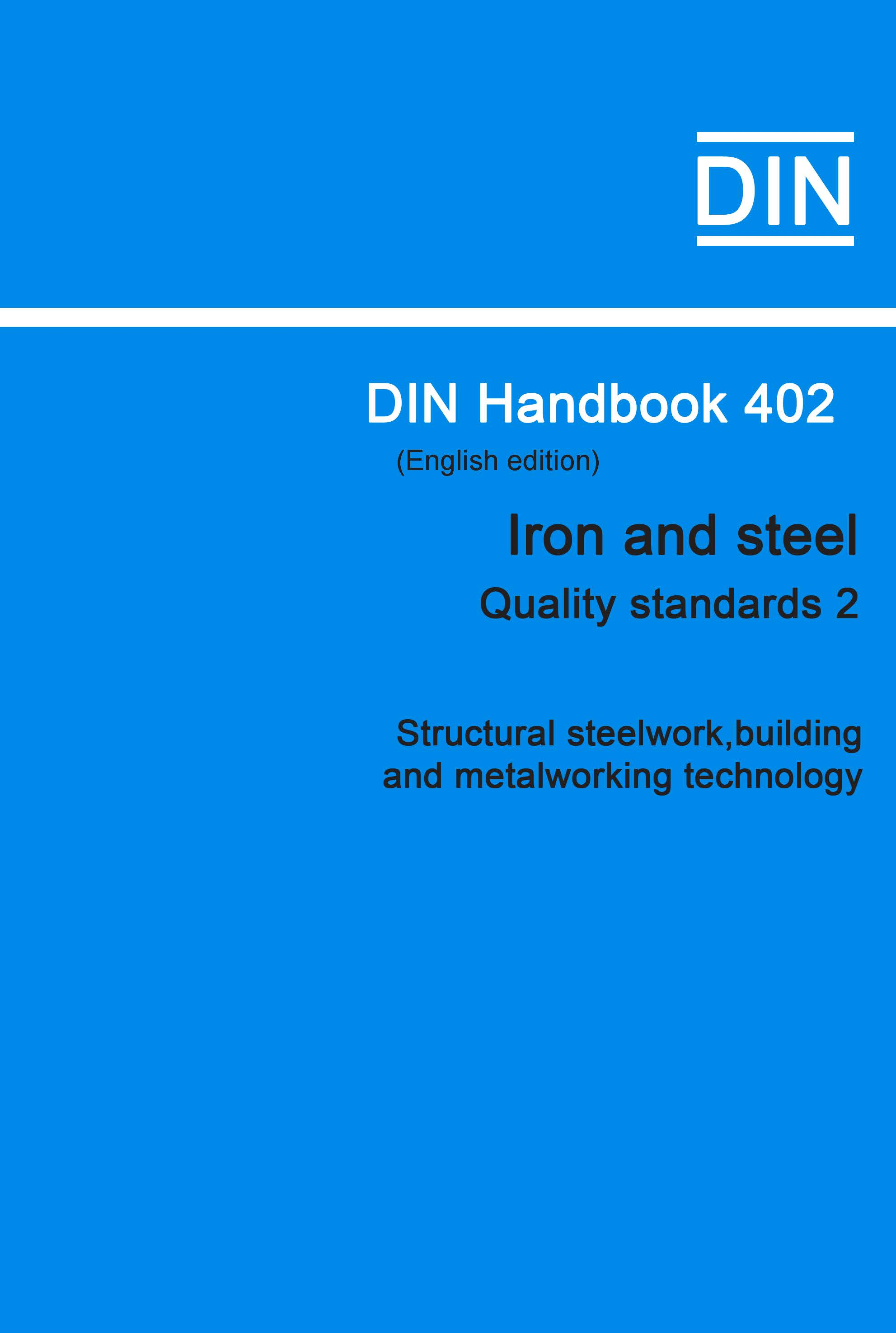 (DIN Handbook  402 Iron And Steel (Quality Standar...