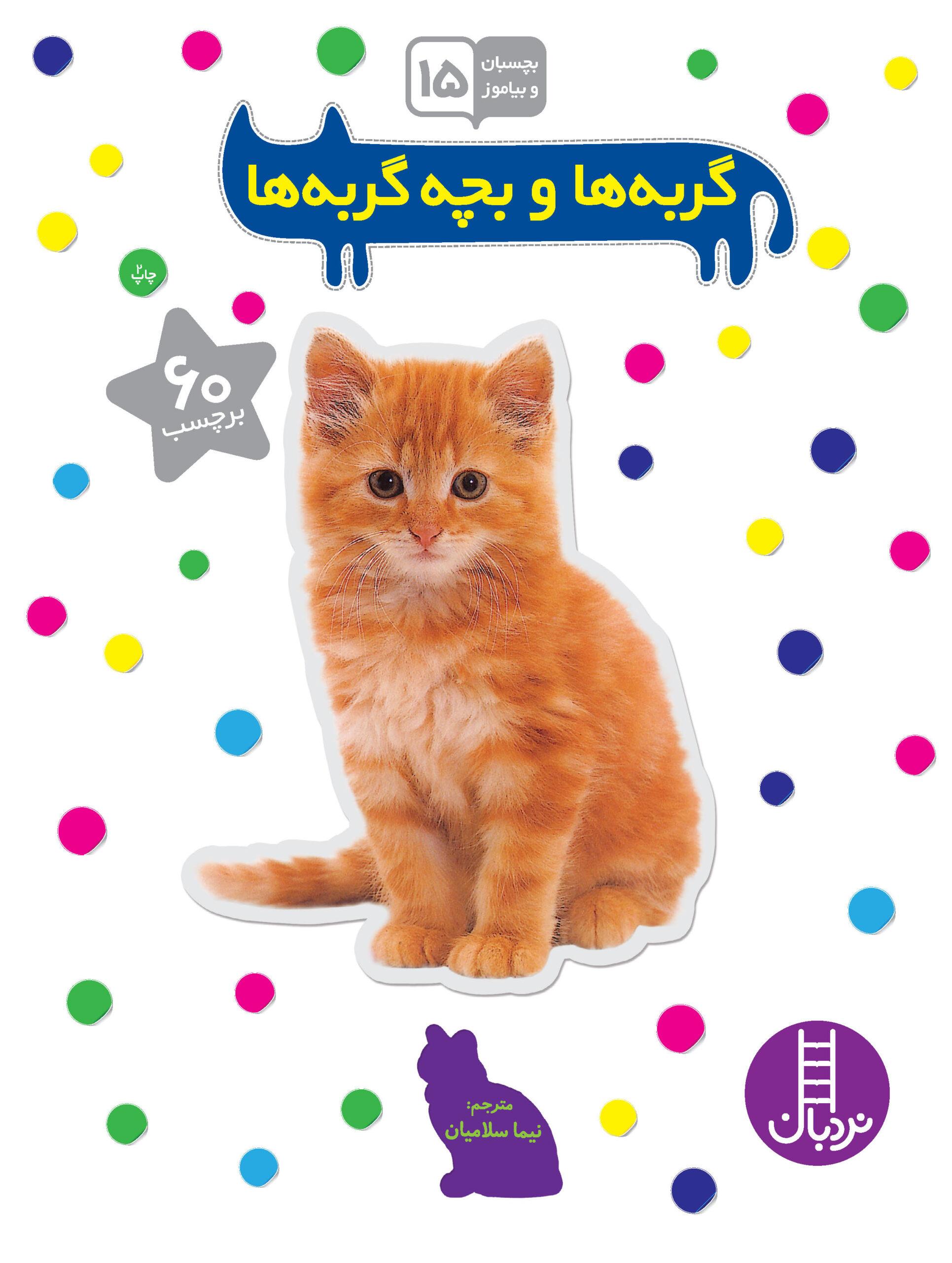گربهها و بچه گربهها (بچسبان و بیاموز)