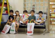 گزارش تصویری بازدید بچهها از کتابفروشی نردبان