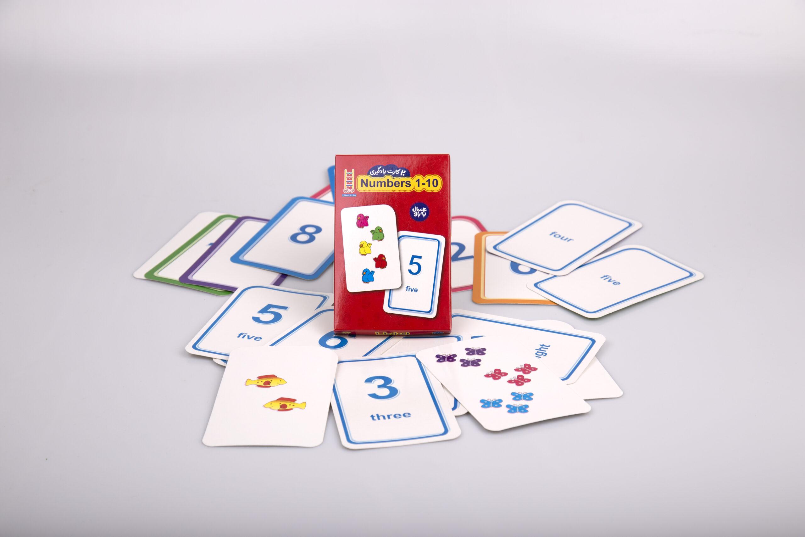 فلش کارت Numbers 1-10